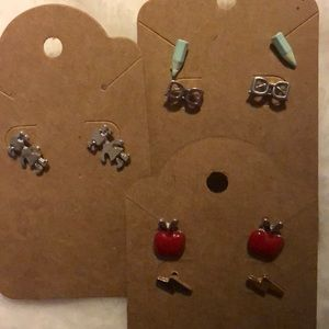 SCHOOL DAYS 5 pair of earring set